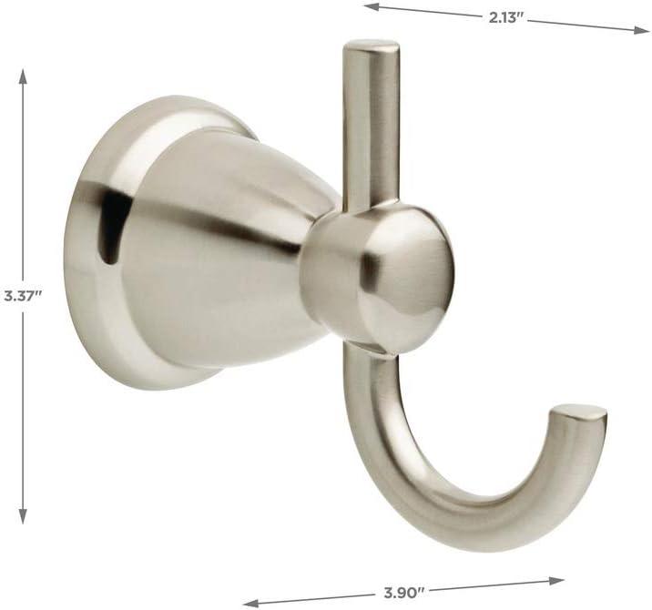 8 Liberty Franklin Brass Somerset Robe Hook Satin Nickel Finish No 139571