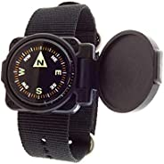 Sun Company ArmArmour 1 - Shielded Wrist Compass with Rugged Tactical Strap   Compass with Cover and Zulu Stra