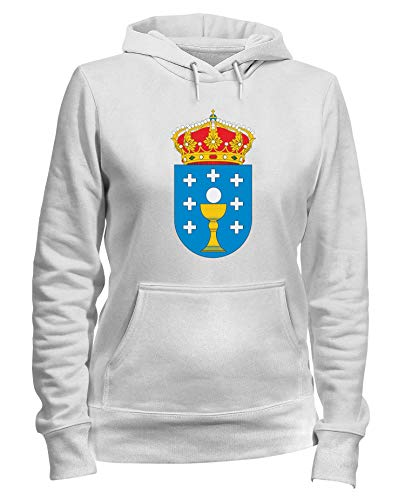 Bianca Cappuccio Felpa T Galicia Tm0091 shirtshock Citta Donna 6fAtxvn