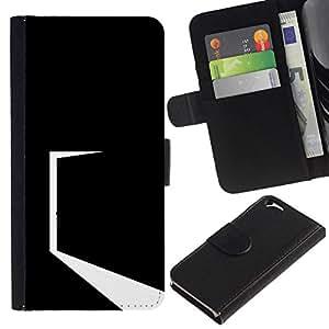 All Phone Most Case / Oferta Especial Cáscara Funda de cuero Monedero Cubierta de proteccion Caso / Wallet Case for Apple Iphone 6 // Minimalist Black Door