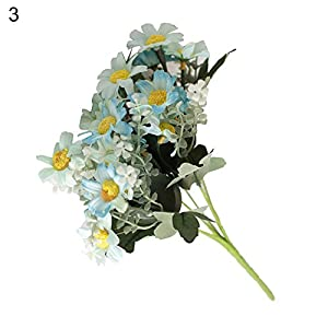 dxS8hhuo Artificial Plant | 1 Bouquet Artificial Coreopsis Plastic Fake Flower Home Hotel Shop Decoration - Coffee 12