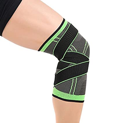 f05784cbef Richermall 3D Knee Brace Support, Breathable Compression Knee Support Sleeve  with Adjustable Weaving Straps for