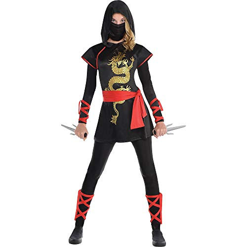 AMSCAN Ultimate Ninja Halloween Costume for Teen Girls, Adult Small with Included Accessories -