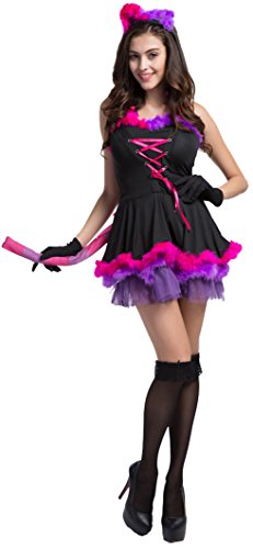Fedo Design Women's Sexy Frisky Catwoman Devil Rainbow Cat Charm Fight Costume
