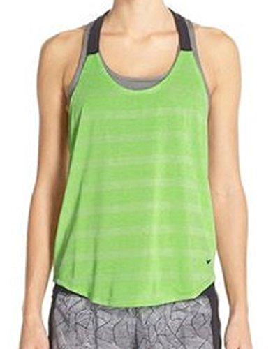 Nike Elastika Elevate Dri-FIT Tank Top (M, Court Green/Black)