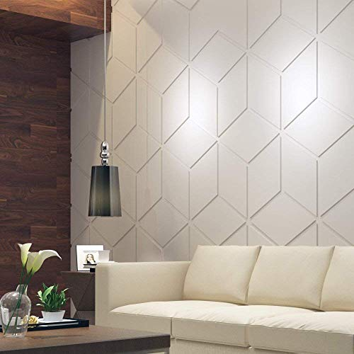 HomeArtDecor | Bas Relief Cubes | Decorative Wall Panels | 3D Tiles | High Quality Polyvinyl Chloride | Office Decoration | Home Decoration | Easy to Apply | Fretwork | ()