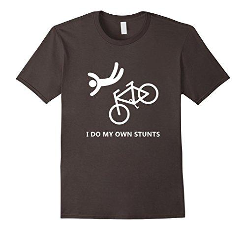 Mens Bike Lovers - I do my own stunts T-Shirt Medium (Bike Print)