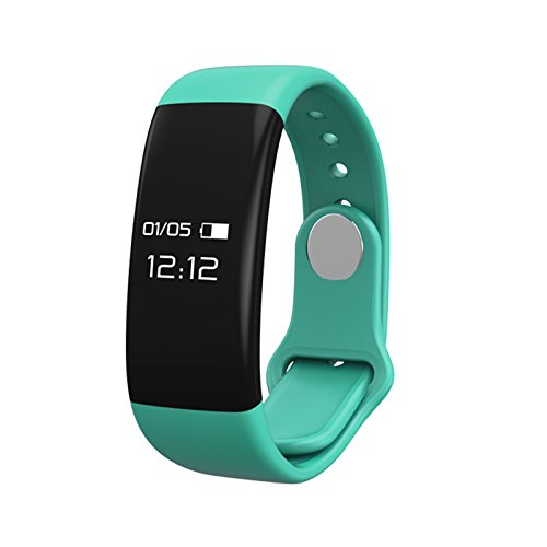 Fitness tracker, B2Future Bluetooth Fitness Tracker Watch, Water Resistant OLED Screen Fitness Tracker Smartwatch with Heart Rate Monitor Pedometer Smart Wristband Band (Tiffany, 0.66)