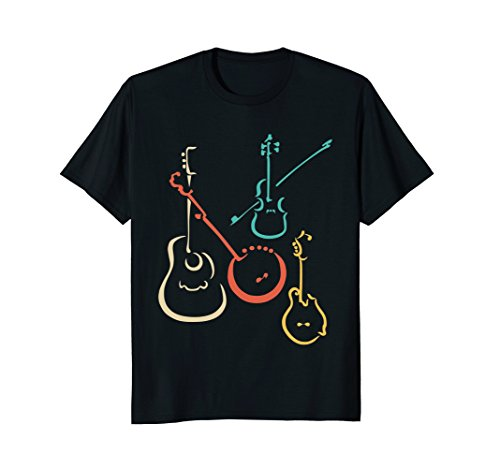 Bluegrass Tunes (Mens Retro bluegrass, guitars, banjos, fiddles, mandolins T Shirt XL Black)