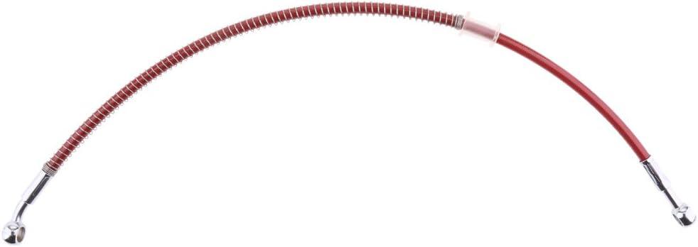 Rosso MagiDeal Tubo Di Olio Ferni Cavi Linea Flessibile Intrecciato Universale In Acciaio Inox 30cm Per Motocicletta