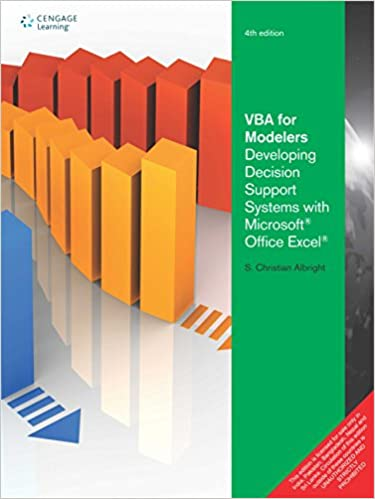 Vba For Modelers: Developing Decision Support Systems With Microsoft