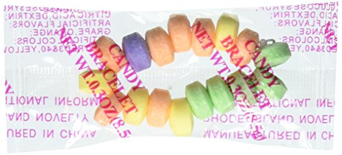 Fun Express Stretchable Candy Bracelets - 48 Count -Party Favors, Carnival, Giveaways, Halloween -