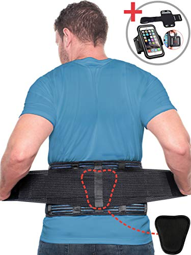 Beqo Back Brace for Lower Back Pain with Removable Lumbar Pad | Back Pain Relief Support Belt for Men & Women | Secure Fastener, Non-Slip Silicone Straps, Breathable Mesh, Adjustable Panels - Size M