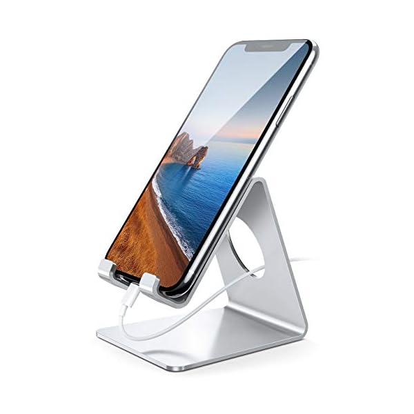 Soporte Móvil, Lamicall Soporte Teléfono - Soporte Dock Base para Teléfono para iPhone 12 Mini, 12 Pro Max, 11 Pro, Xs… 3