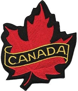 Officially Licensed 3 x 3.5 Iron-On//Sew-On Embroidered Patch Canada Leaf