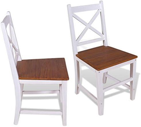 Chaises de salle à manger 2 pcs teck massif acajou