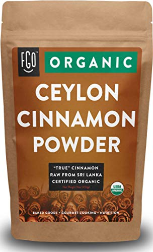 Organic Ceylon Cinnamon Powder - Perfect for Baking, Cooking & Smoothies - 100% Raw from Sri Lanka - 16oz/453g Resealable Bag - by FGO