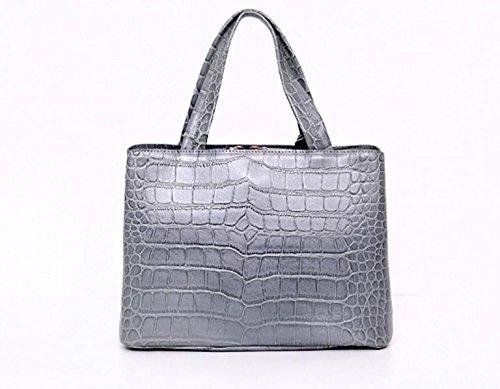 Bellina Wani Tote Shoulder Bag BB1218 (Grey) by Pristine&BB (Image #3)