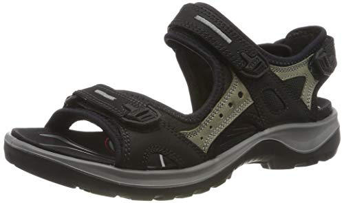ECCO Women's Yucatan outdoor offroad hiking sandal, Black/Mole/Black, 8 M US