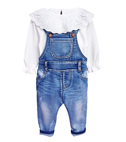 - Chumhey Little Girls & Baby 2-Piece Big Bib Jeans Clothing Sets,2-3 Years,Blue