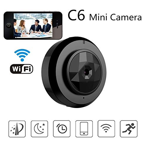 Mini Hidden Camera WiFi Spy Camera Wireless Home Security Video Camcorder System Micro Mini Camera Surveillance with Smartphone App Video Recording IP Micro Camcorder Motion Detection P2P Car DVR