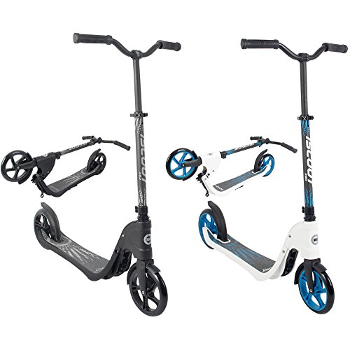 iScoot X60 Stealth Black Adult City Push Kick Scooter with Large 200MM...