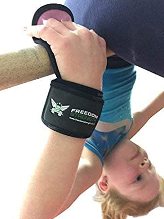 Freedomstrength Children Size gymnastics palm guard protectors with padded wrist strap