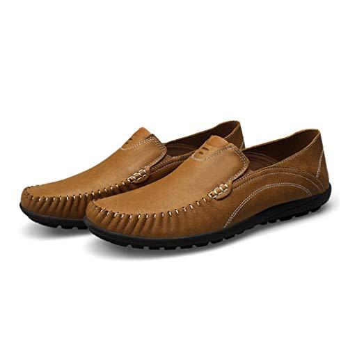 a y Slip Perezosos y Zapatos conducción Hombres Boda Invierno de Costura Mocasines Leathe Noche Moda UN on YaXuan e Mano para Fiesta Ocasionales Zapatos Otoño de vgxCzqUw