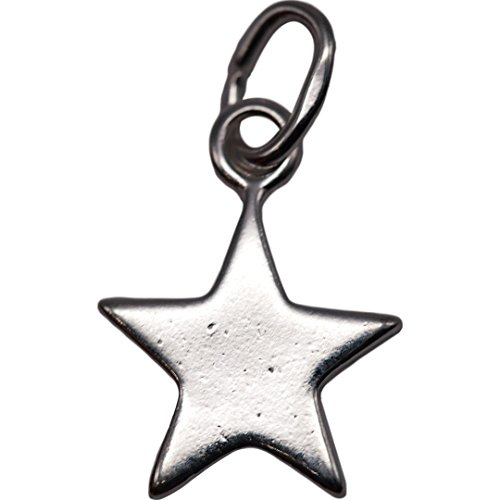 Sterling Silver Little 5 Pointed Star Charm 925 12mm