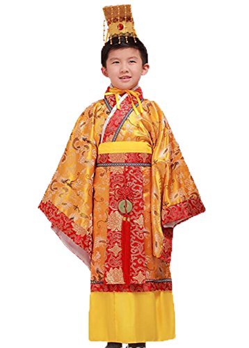 [Bysun Boy Han Dynasty imperial Chinese costumes Gold150] (Han Chinese Costume)