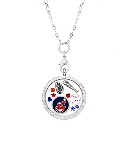 Final Touch Gifts Cleveland Indians Floating Locket on a 32