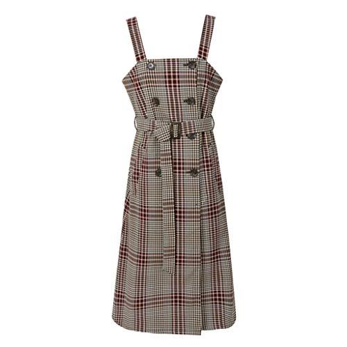 Vestidos Mujer Dirndl Falda Nueva Falda marrón en Falda Larga a ...