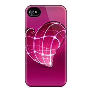 Hot New 3d Heart Cases Covers For Iphone 4/4s With Perfect Design
