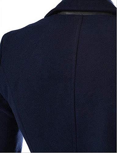 De Dunkelblau De Invierno Abrigo Parka Hombres Collar Abrigo Chaqueta De De Hombres Pie Chaqueta Elegante Gabardina Chaqueta Invierno Hombres Chaqueta Casual para De Modernas Invierno De Lana dAxvATqF