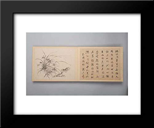 Yamamoto Baiitsu - 18x15 Framed Museum Art Print- Refined Elegance in The Four Seasons (Shiji seiga), Album of Flower Paintings (Yamamoto Print)