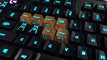 Amazon com: 10 Keys Backlit Keycap Key Cap for Logitech G910