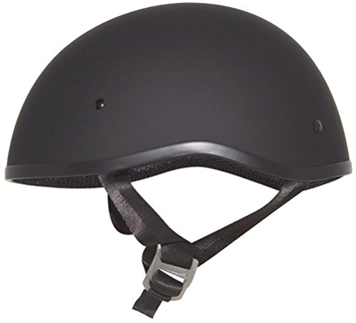 ZOX Retro Old School Motorcycle Half Helmet Matte Black X-Large