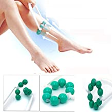 Healtheveryday® Leg Slimming Massager Foot Calf Diet Magic massage shapely legs Relax 8 Balls Body shaping Roller – reduce fat, tight skin, body building – fitness trainer recommend