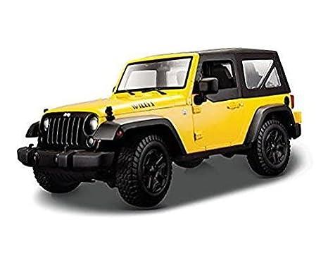 2014 Jeep Wrangler Willys MAISTO SPECIAL EDITION Diecast 1:18 Scale Yellow  W/Black