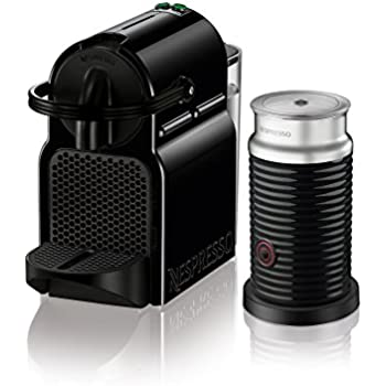 Nespresso Inissia Espresso Machine by De'Longhi with Aeroccino, Black