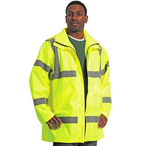 Galeton 12319-XXXL Illuminator Class 3 High Visibility Breathable 150 Denier Rain Jacket, 3XL, Lime by Galeton (Image #1)