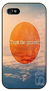iPhone 4 / 4s Bible Verse - Trust the process. Sky and clouds - black plastic case / Verses, Inspirational and Motivational