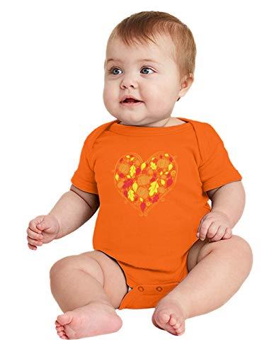 HAASE UNLIMITED Autumn Heart - Fall Harvest Cornucopia Bodysuit (Orange, 6 Months) ()