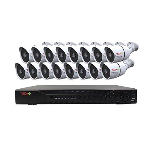 REVO America Aero HD 16 CH Four Megapixel DVR, 2TB HDD & 16x 1080p Indoor/Outdoor IR Bullet Cameras - Remote Access - Backward Compatible with Standard Digital Cameras. -  RAJ162A2B16G-2T
