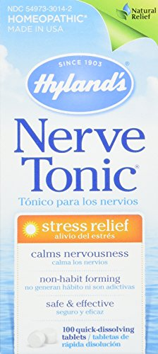 Hyland's Nerve Tonic Stress Relief, 100 Tablets (Pack of 3)