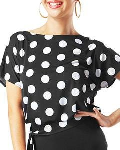 Taka Dance Women's Blouse [Polka-dot] [LP-BL17] by TAKA DANCE