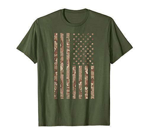 Desert Camo American Flag T-shirt, 4th of July Shirt