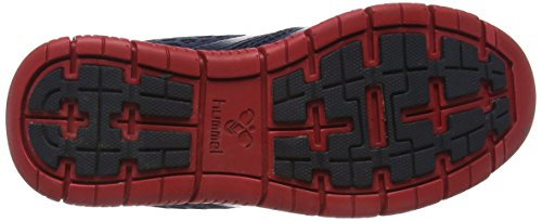 Hummel HUMMEL CROSSLITE - Zapatillas deportivas de material sintético Unisex adulto, color Azul/Lima, talla 37