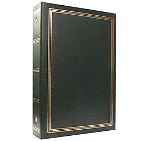 4x6 Pioneer ST-400BURGUNDY 3-Ring 2-Up Slip-in Pocket Burgundy Binder Album for 400 Photos
