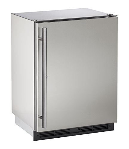"U-Line U1224RSOD00B 24"" Built-in Outdoor Refrigerator, Stainless Steel"